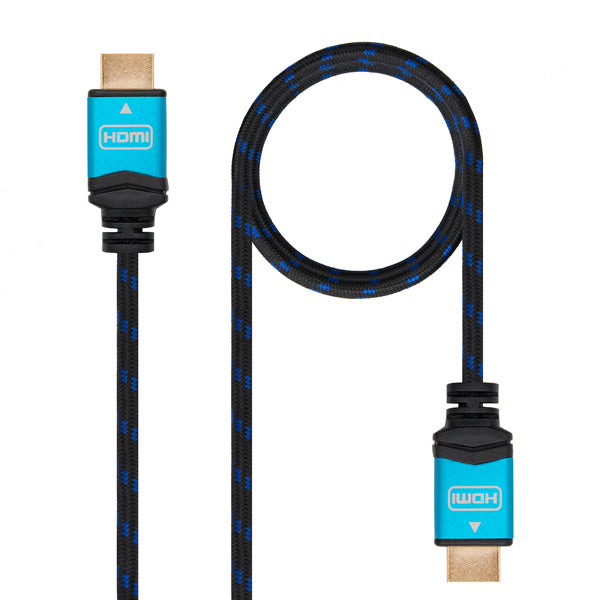 HDMI Cable TooQ 10.15.37 V2.0 Black Blue