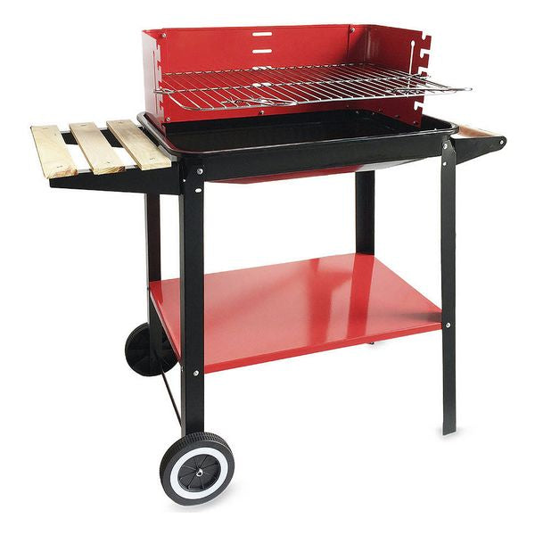 Coal Barbecue with Wheels Algon Black Red (58 X 38 x 72 cm)