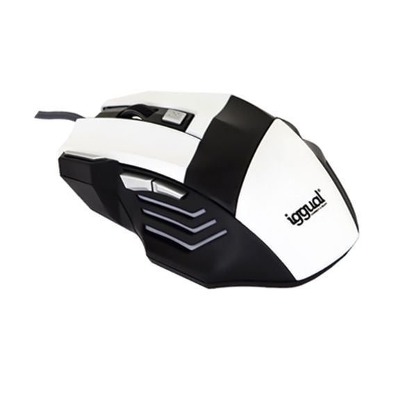 Optical mouse iggual IGG315026 STORM 2400 dpi 7 D USB White