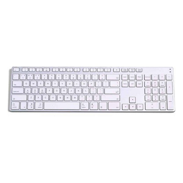 Wireless Keyboard Subblim Advance Extended Slim Bluetooth 3.0 350 mAh Silver