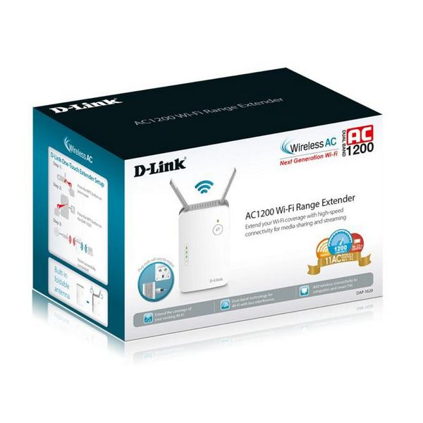 Wi-Fi repeater D-Link DAP-1620 AC1200 10 / 100 / 1000 Mbps