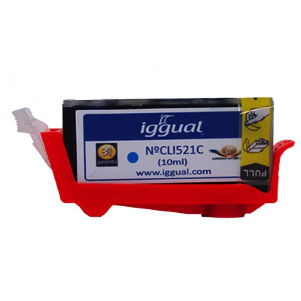 Recycled Ink Cartridge iggual Canon CLI521C Cyan