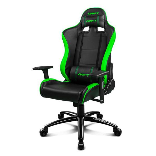 Gaming Chair DRIFT DR200BG 90-160º Foam PU Black Green