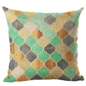 Mosaic Bird Square Throw Pillow