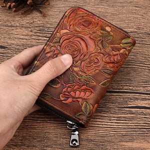Carmelita Embossed Leather Wallet