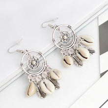 Load image into Gallery viewer, Dreamcatcher Drop Earrings