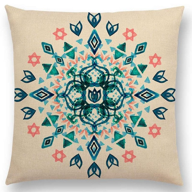 Diamond Floral Cushion Cover