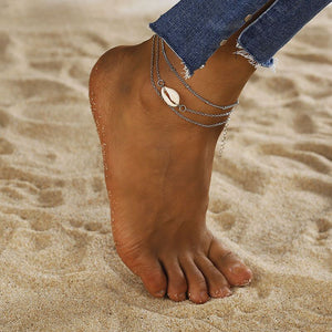 Mindi Cowrie Shell Stacking Anklets