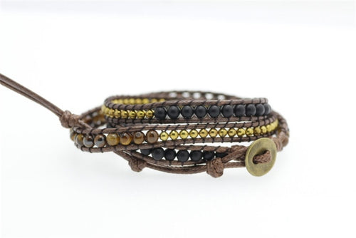 Miri Tigers Eye Wrap Bracelet