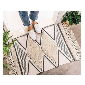 Valen Nordic Tufted Cotton Area Rug