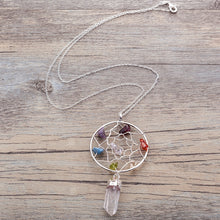 Load image into Gallery viewer, Chakra Dreamcatcher Pendant Necklace