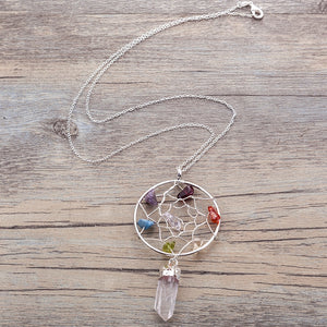 Chakra Dreamcatcher Pendant Necklace