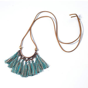 Malibu Tassels Pendant Necklace