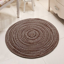 Load image into Gallery viewer, Mai Tatami Non-Slip Circular Area Rug