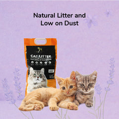HUFT Cat Litter (Natural & Clumping) - Lavender Scented - 10 kg