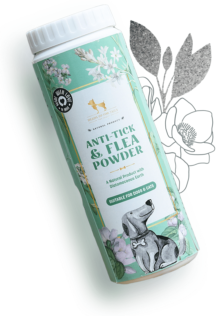 HUFT Natural Anti Tick and Flea Powder for Dog & Cat