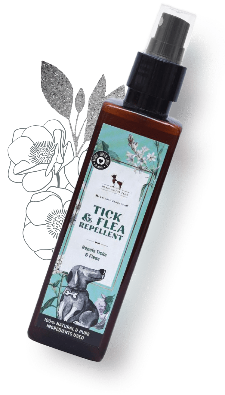 HUFT Organic Tick and Flea Repellent Spray for Dogs