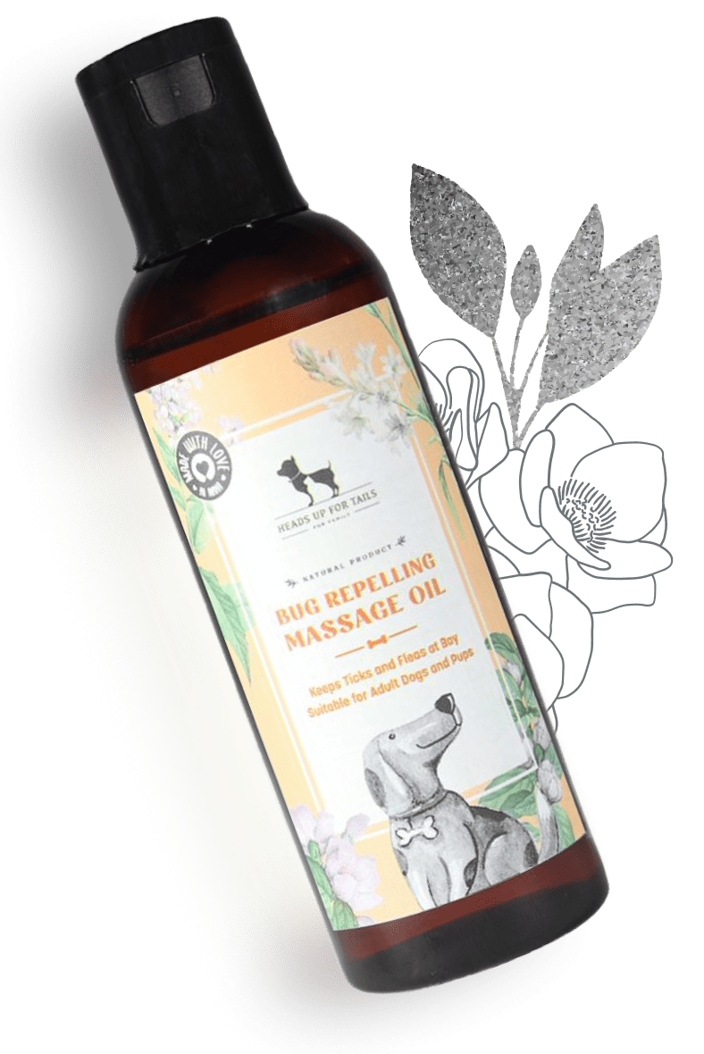 HUFT Bug Repelling Massage Oil For Adult Dogs & Pups