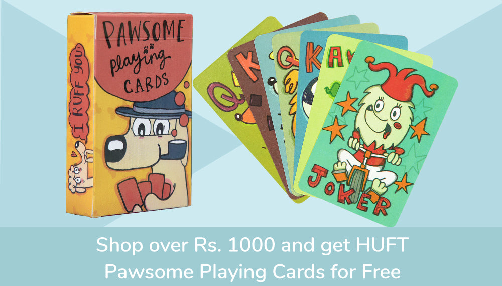 Shop over 1000 and Get Pawsome Playing Card Free