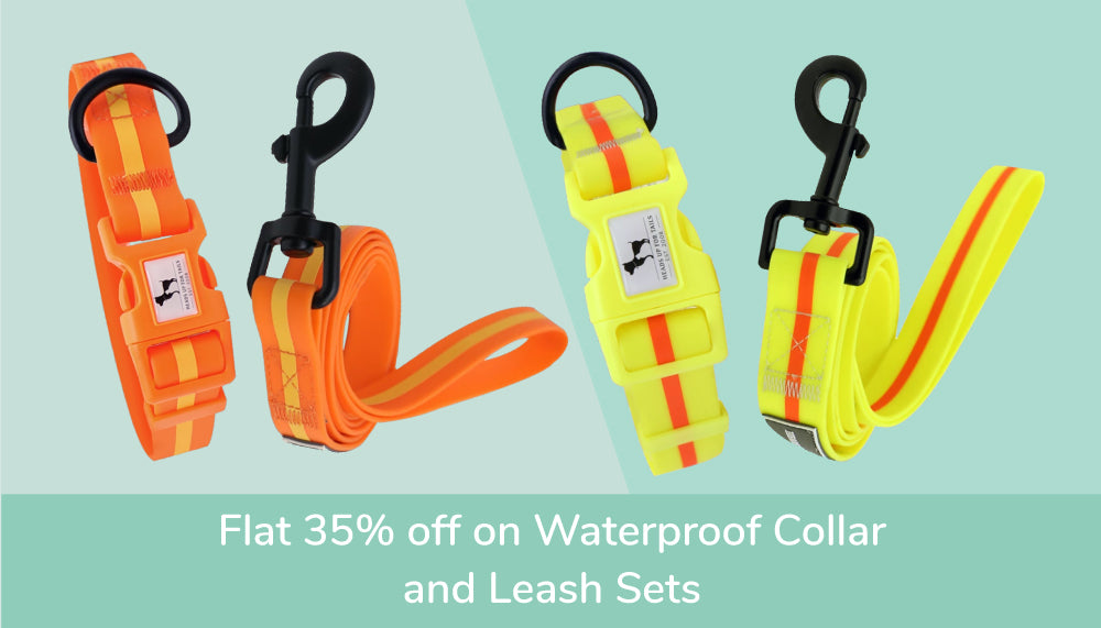 HUFT Waterproof Collar and Leash Set Offers