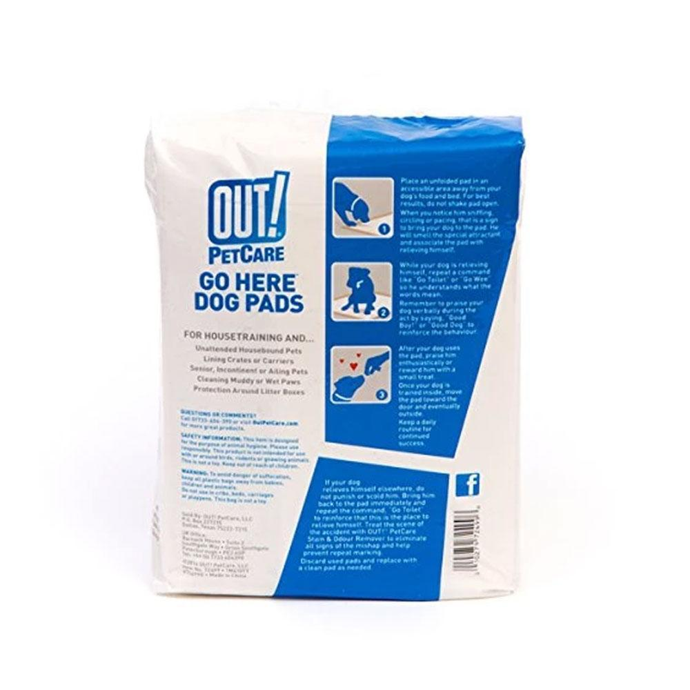 Bramton OUT! Go Here Dog Pads Moisture Lock Training Pads