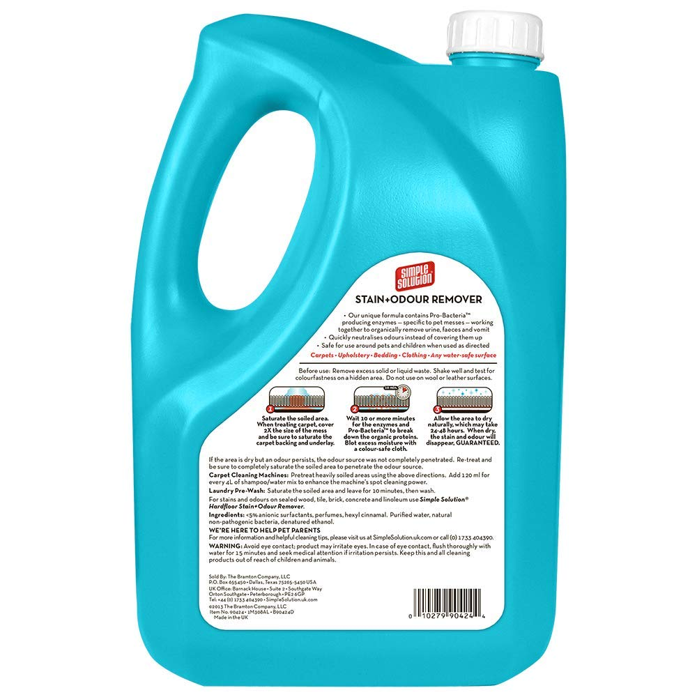 Bramton Simple Solution Stain & Odor Remover for Dogs 4 Litre
