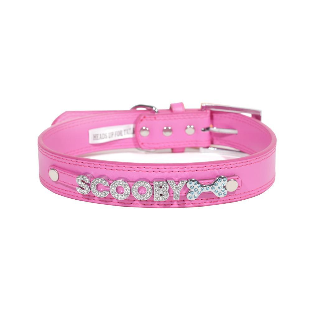 HUFT Personalised Dog Collar Pink Upto 7 Letters