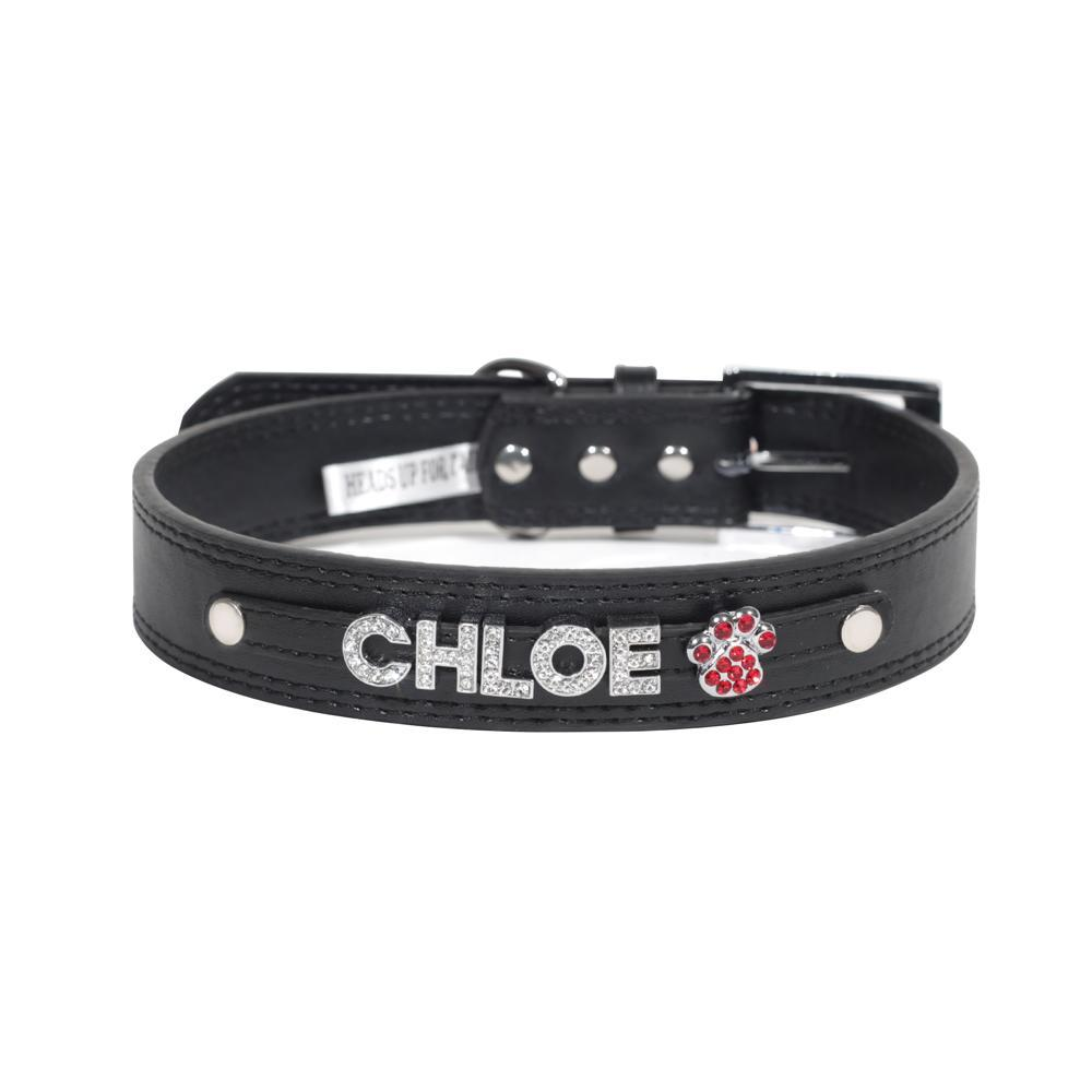 HUFT Personalised Dog Collar Black Upto 5 Letters