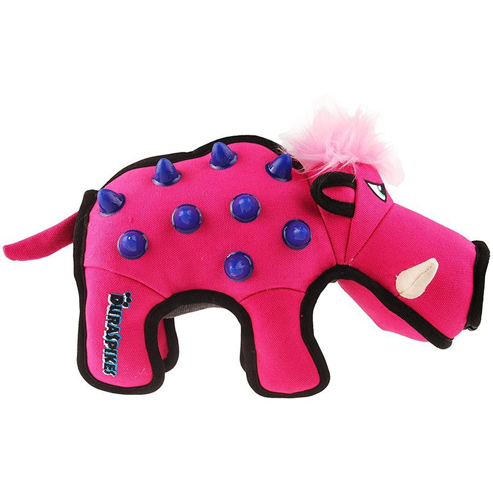 GiGwi Duraspikes Extra Durable Dog Toy Wild Boar Rose