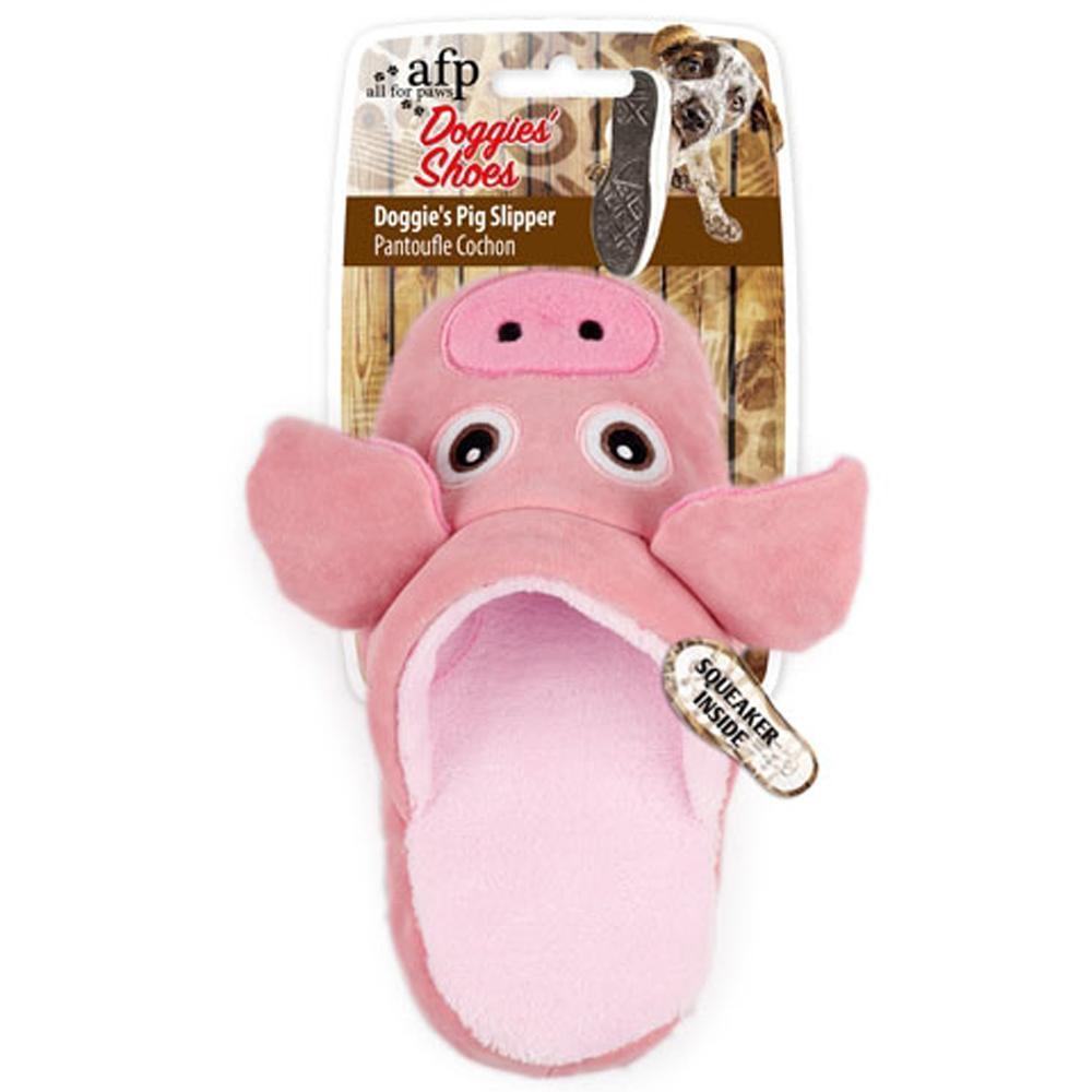 All For Paws Doggies' Shoes Doggie's Pig Slipper Dog Toy