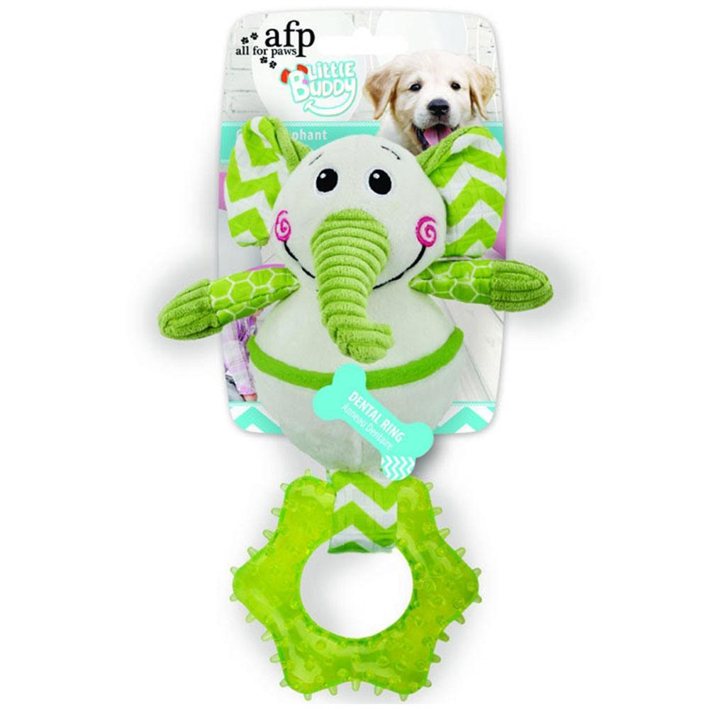 All For Paws Little Buddy Goofy Elephant Dog Toy with Dental Ring
