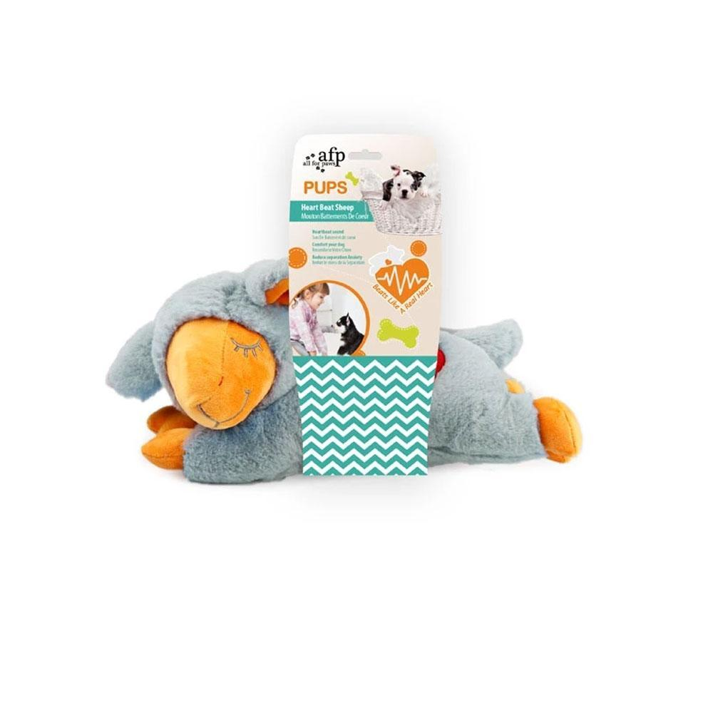 All For Paws PUPS Heart Beat Sheep Dog Toy