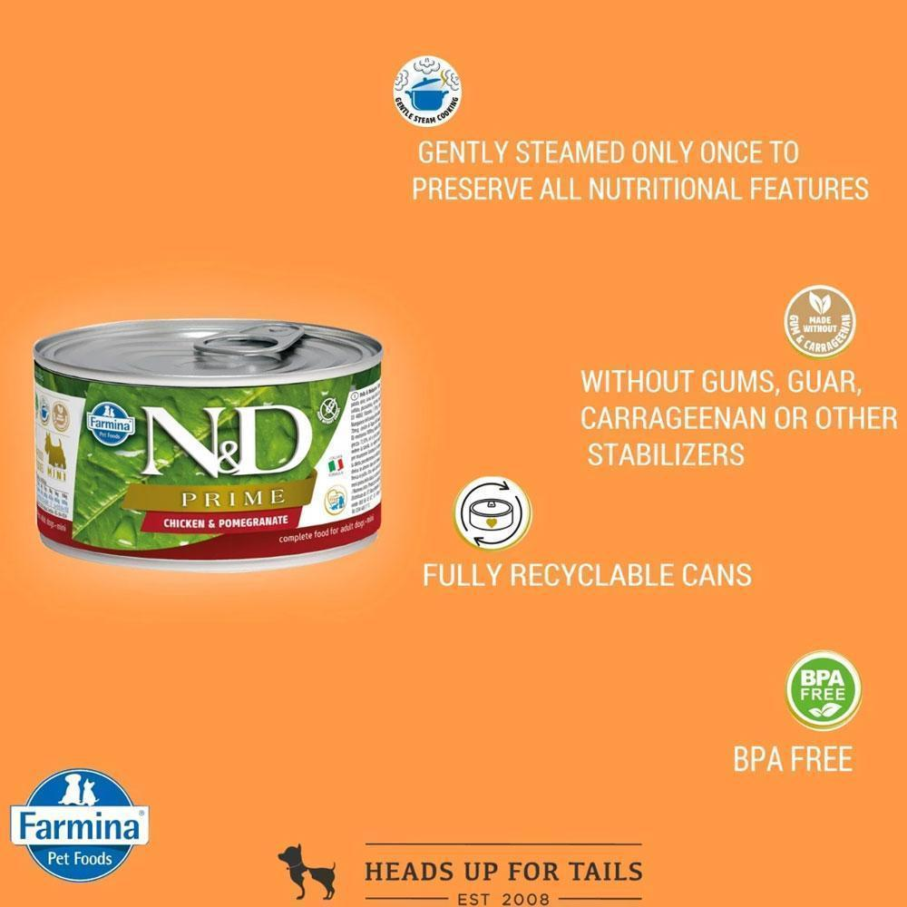 Farmina NandD Prime Wet Dog Food (Mini Breed) Chicken and Pomegranate 140 gms