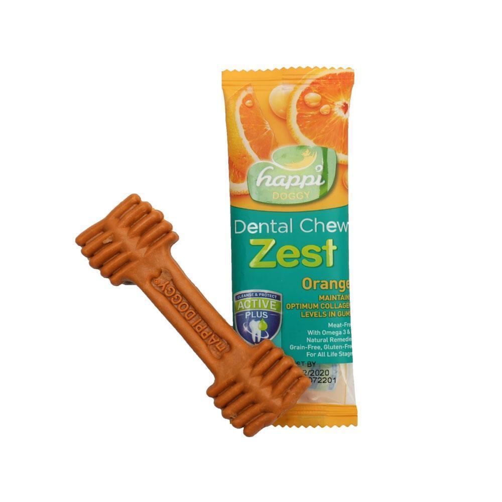 Happi Doggy Dental Chew Zest Orange (Singles)