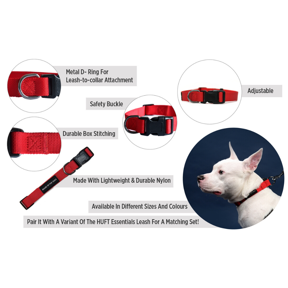 HUFT Essentials Nylon Dog Collar