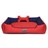 HUFT Lounger Dog Bed Red and Navy Blue