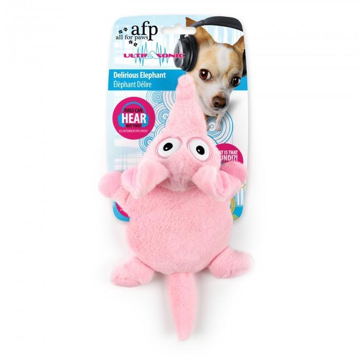 All For Paws Ultrasonic Delirious Elephant Dog Toy