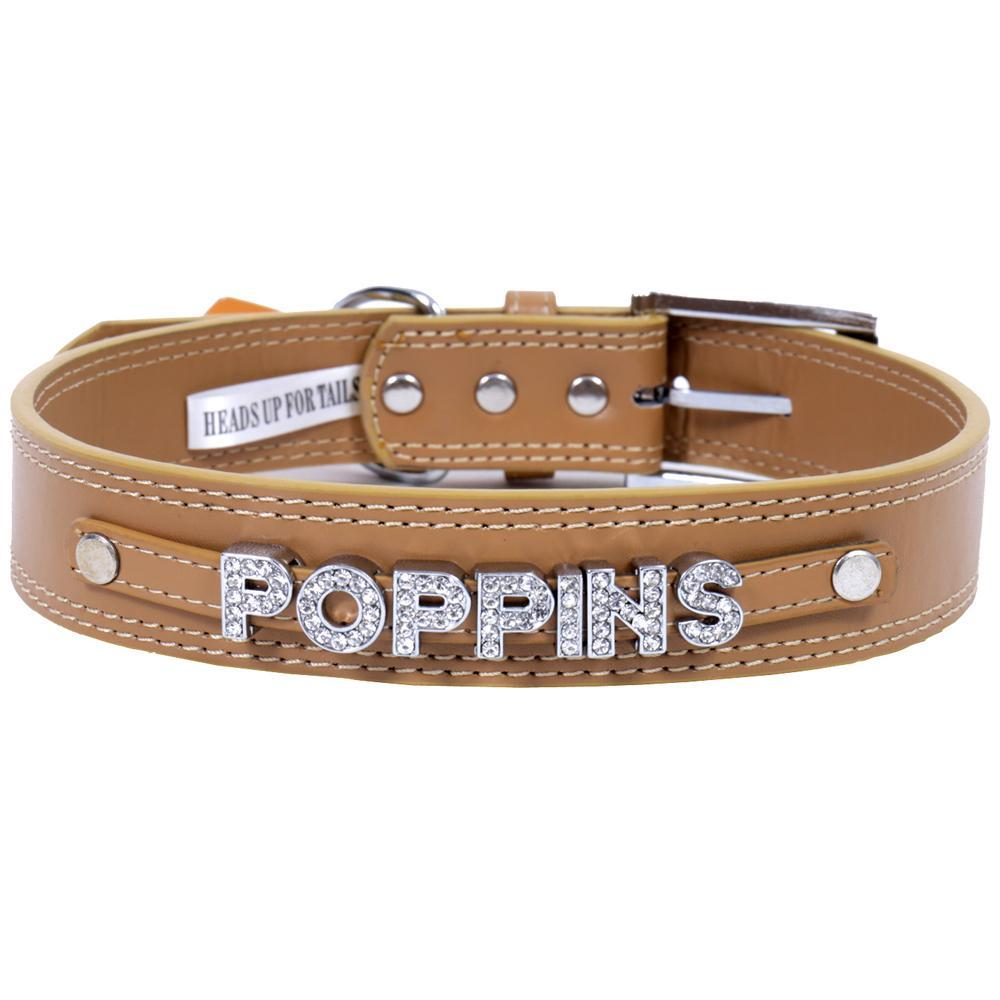 HUFT Personalised Dog Collar Beige Upto 7 Letters