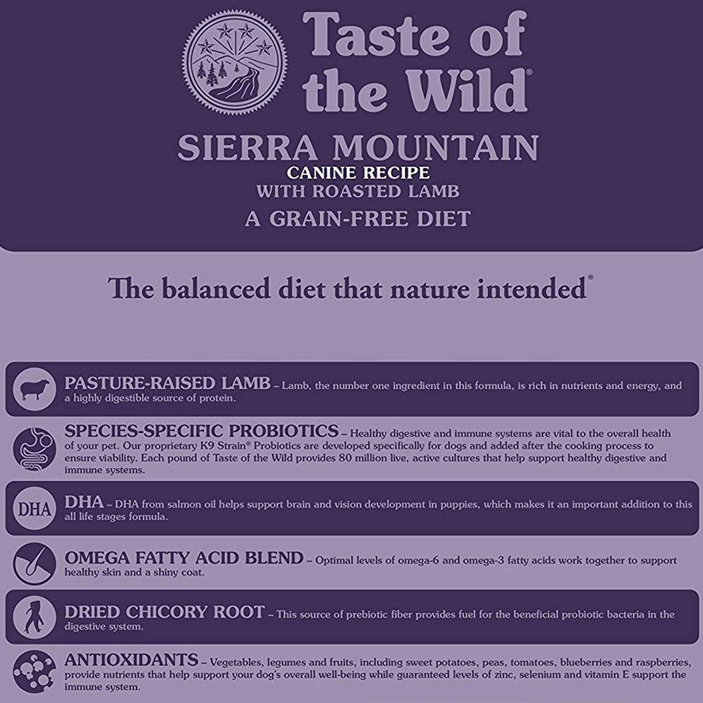 Taste of the Wild Dry Dog Food- Sierra Mountain with Roasted Lamb