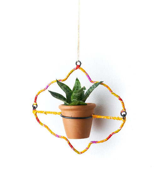 Sari Air Element Planter - Arches Pot & Frame