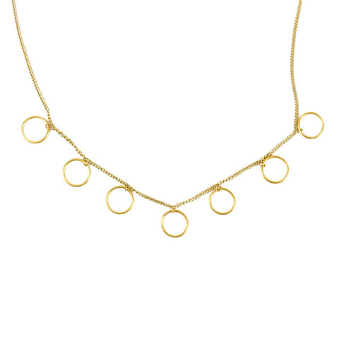 Dhavala Necklace - Pearl Coin