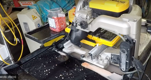 Cleaning a Wet Tile Saw (Dewalt) after cutting Glass.