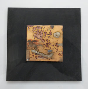 A Rainy Day,  Enamel on copper panel with eutectic fired fine silver
