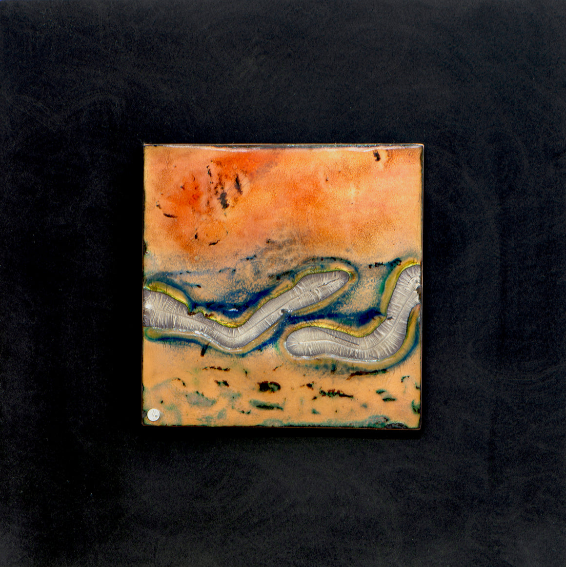 Togetherness,  Enamel on copper panel with eutectic fired fine silver