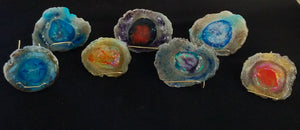 Memory glass geodes/rocks