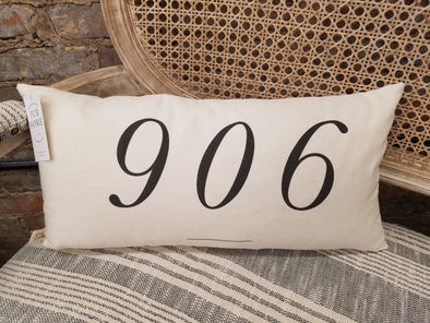 *Special Order* Zip Code Pillow {906 shown}
