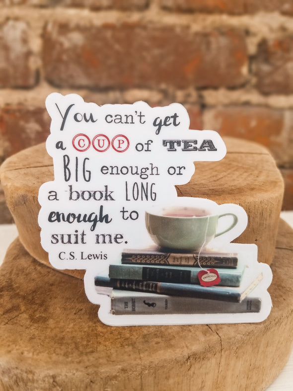 Tea and Books Decal