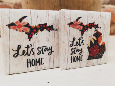 """Let's Stay Home"" Magnet"