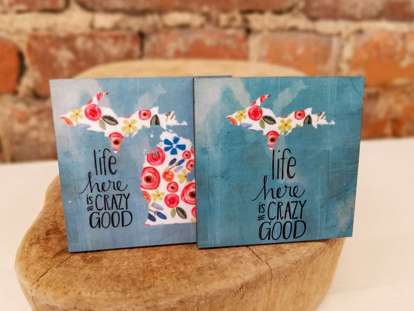 """Life Here"" Magnet"