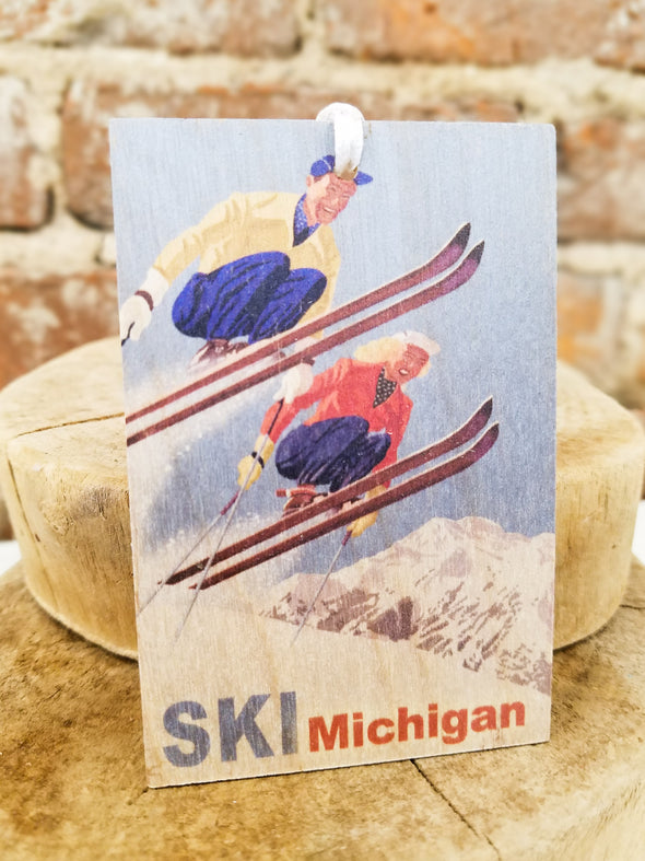 Retro Ski Ornament